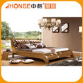 China style natural simple solid wood elegant bedroom furniture