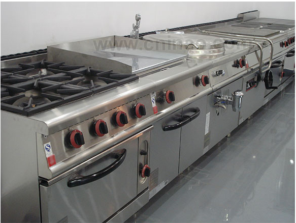 Commercial Restaurant Equipment Restaurant Heavy Duty Free Standing 4 Burner Gas
