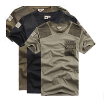 High Quality Sport Leisure US Army Short Sleeve T-Shirt Men Tactical t shirt Breathable Quick Dry Army Combat T Shirt L-XXXL