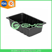 Black Accessories Serving Display Buffet Tray 26.2L Kitchen Accessories with PP Material