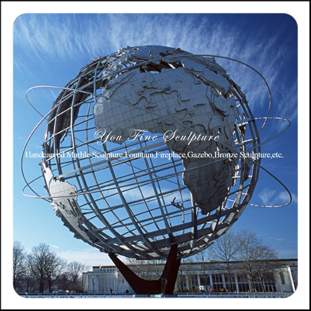 Amazing Square 304# Stainless Steel Globe Statue