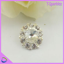 Round cheap small silver rhinestone brooch pin for wedding card