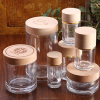 Engraved Wooden Cap Bottle Clear Plastic