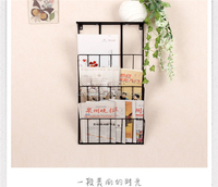 3-Tier Wall Mounted wrought Iron Book Rack