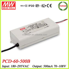 Meanwell triac dimmer led driver 500ma PCD-60-500B