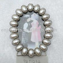 Desktop fashion pearls metal photo frame