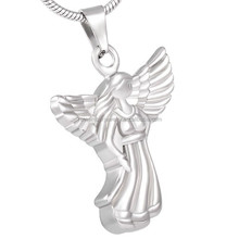 SRP8127 Wholesale Jewelry Stainless Steel Cremation Guardian Angel Ashes Pendant