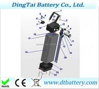 48v 17ah lithium ion ebike battery 18650 3400mah cells li-ion battery pack for electric bike