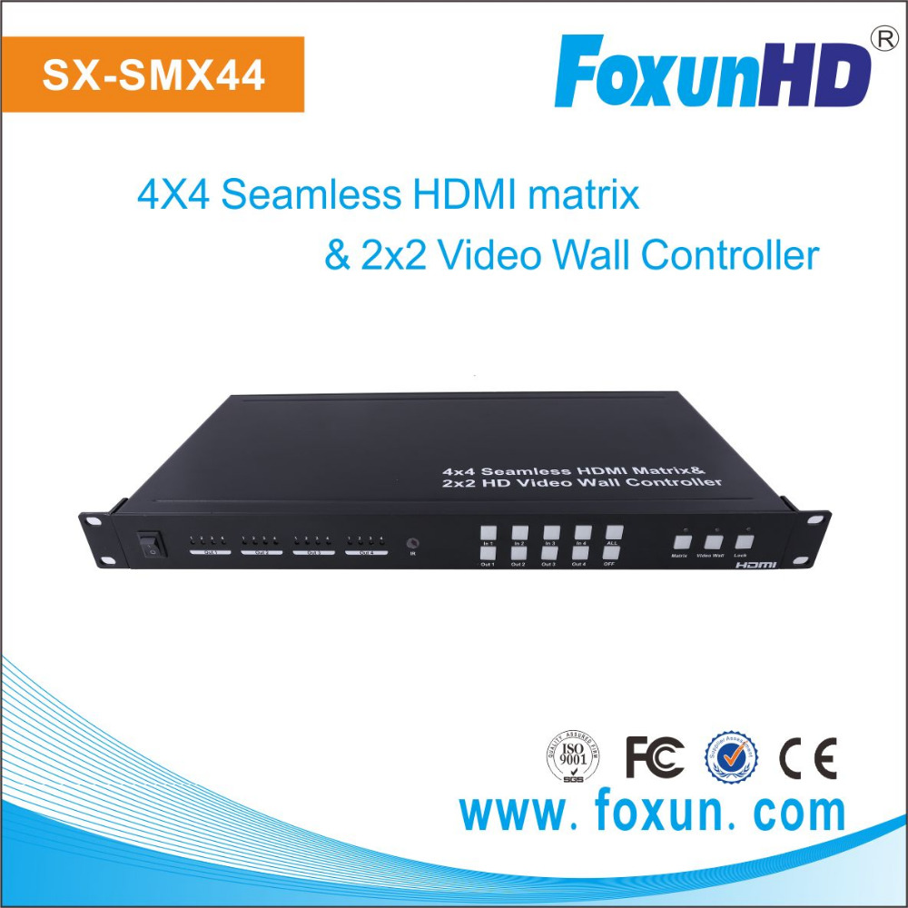 Foxun Seamless Switch matrix Multiviewer 2x2 Video Wall Controll SX-SMX44