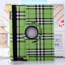 Newest Luxury Cover For iPad2 3 4 iPad 6 Leather Plaid Checked Fashion Rotating Skin Case