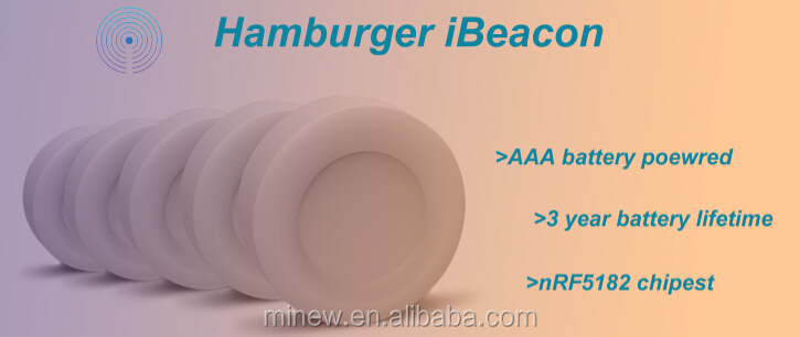 BLE eddystone AAA battery powered long range ibeacon