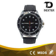 Factory direct sale elegant men leather watch