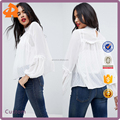 OEM plain white new fashion girls blouse,plus size crochet blouse in china