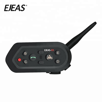 2019 EJEAS Factory New 1200m 6 riders wireless motorcycle helmet bluetooth intercom