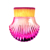 Ladies Single Fan Glitter Seashell Gradient Pink Cosmetic Brush