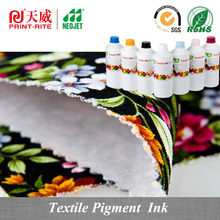 print rite textile pigmented ink for anajet printer digital textile printing machine cmyk white textile ink