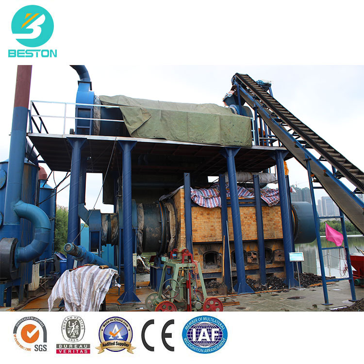 Hydrothermal waste sludge oil cracking carbonization stove