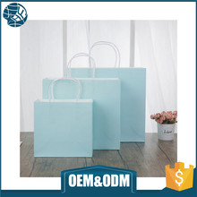 Custom kraft gift paper bag craft shopping paper bag for clothes