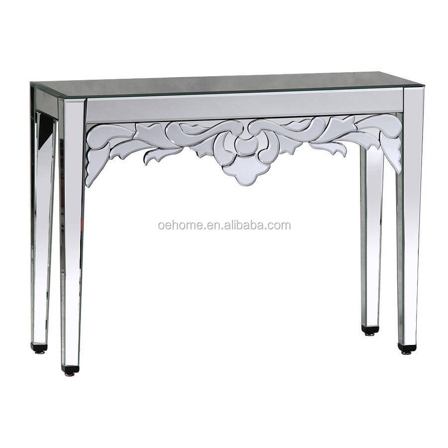 Glass console table with mirror - Luxury Venetian Mirrored Console Table Buy Venetian Mirrored Console Table Mirrors Console Table Matching French Style Console Table Product On Alibaba