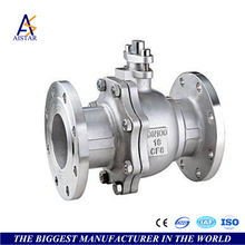 AISTAR 2017 high quality cast steel flange type ball valves