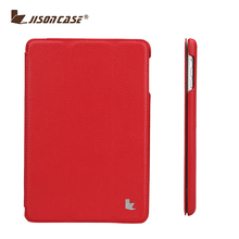 Hot selling smart tri-fold leather tablet stand case for iPad
