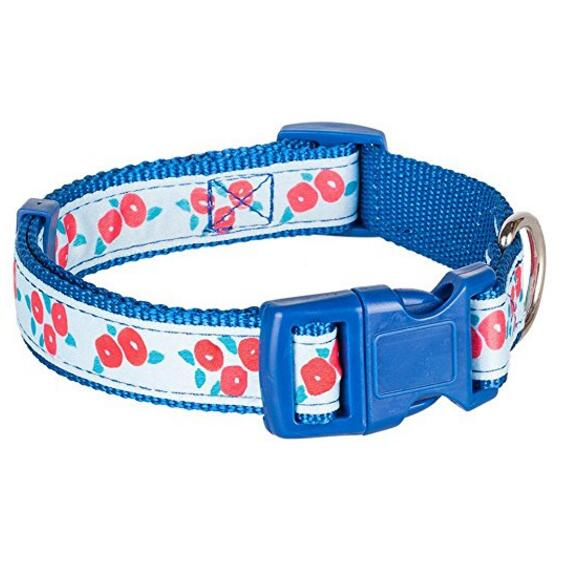 Hot Sale Blue Custom Nylon Reflective Dog Collar