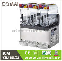 fashion 3 bowl slush machine,commercial slush drink maker with three tanks,commercial slush drink maker with three tanks