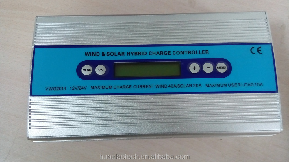 Off grid wind turbine battery controller 1000W 24V with LED display CE certificated for wind energy and pv power