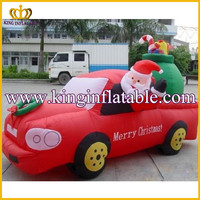 9ft Customized Holiday Product Inflatable Christmas Car, Inflatable Yard Decoration Merry Christmas