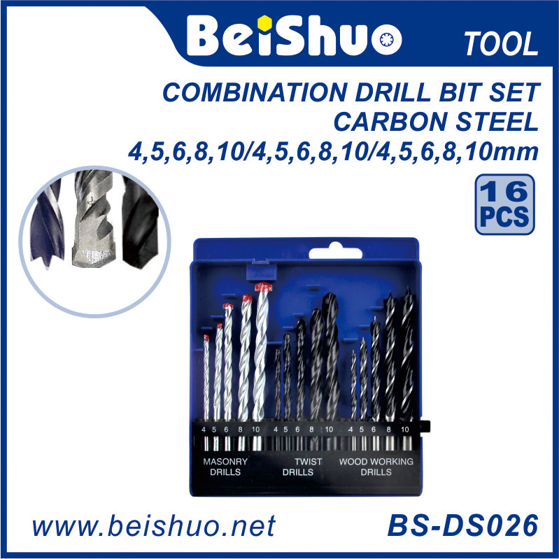 HSS Twist Drill Set 19 Pieces 1-10 mm metal drill bit set Titanium Coated Twist Drill Bits