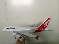 plastic material and star alliance regional feature scale model plane/customized Qantas A380 47cm aircraft model