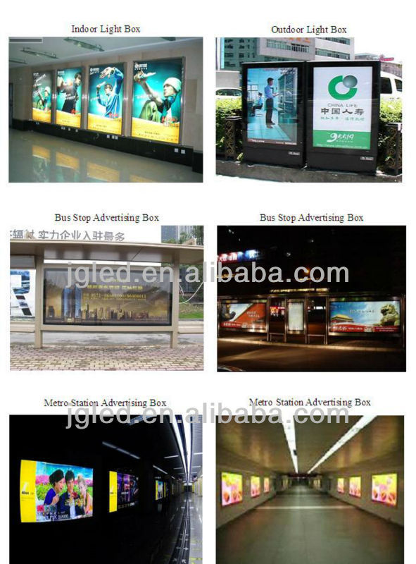 Newly design 5050 led module for outdoor bus stop advertisement light box