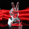 Best seller custom crystal award and trophy for singing competition