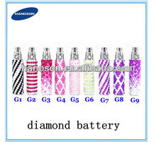 2014 newest diamond ecig ego battery/Electronic cigarette battery/ego diamond battery bling and elegant