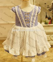 Girls boutique dresses hot sale well dressed wolf childrens ruffle clothing