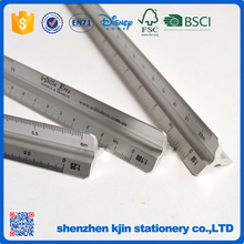 professional 30cm 12 inch metal aluminum triangle scale ruler for students