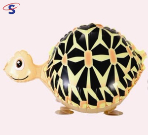 Christmas Party Decoration Farm Animal Turtle Shape Helium Foil Floating Walking Animal Balloons For Kids Birthday Gift