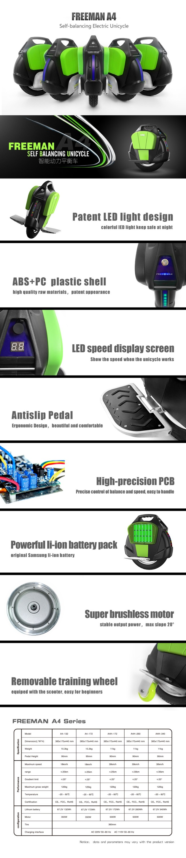 Smart Balance Freeman one wheel Electric Standing Scooter Self Balance Hoverboard Solo Wheels
