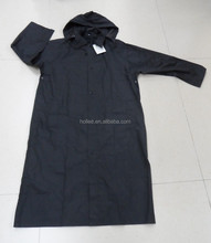 100% PU soft and lightweight long raincoat