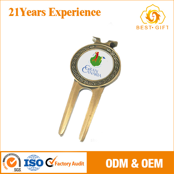 bulk golf Pitchfork personalized antique handle Golf Divot tool