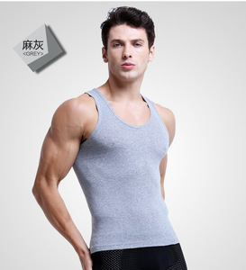 man's 100% cotton tank top fashion gym tank top/stringer tank top/workout tank top