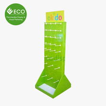 Cardboard Commercial Peg board Paper Hat Display Stand