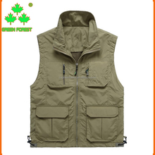 Outdoor Multi-pocket Tactical Functional Photography Fishing Vest Men Sleeveless vest