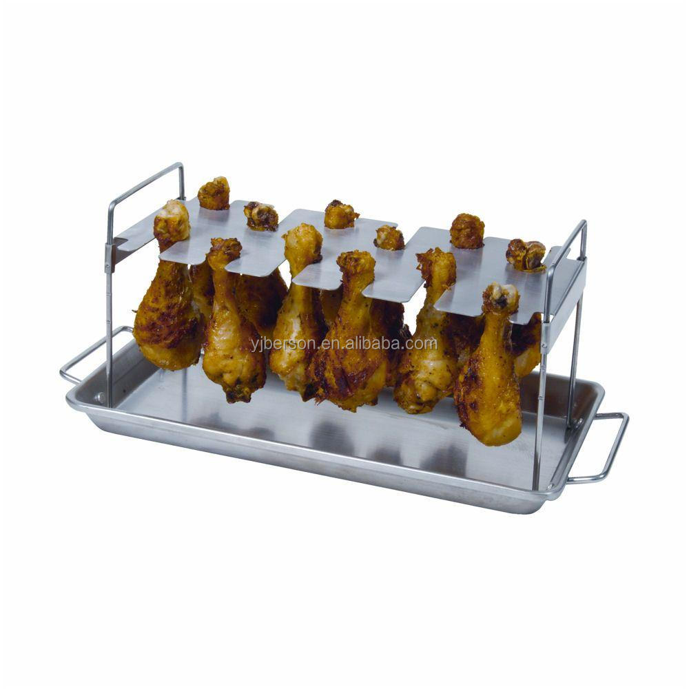 Great way to cook legs multi-purpose chicken turkey Leg Roaster Pan Rack