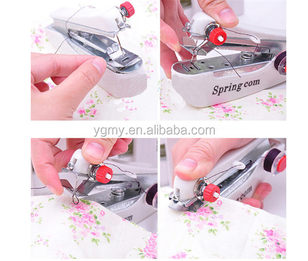 Mini Handheld Portable Clothes Fabrics Sewing Machine