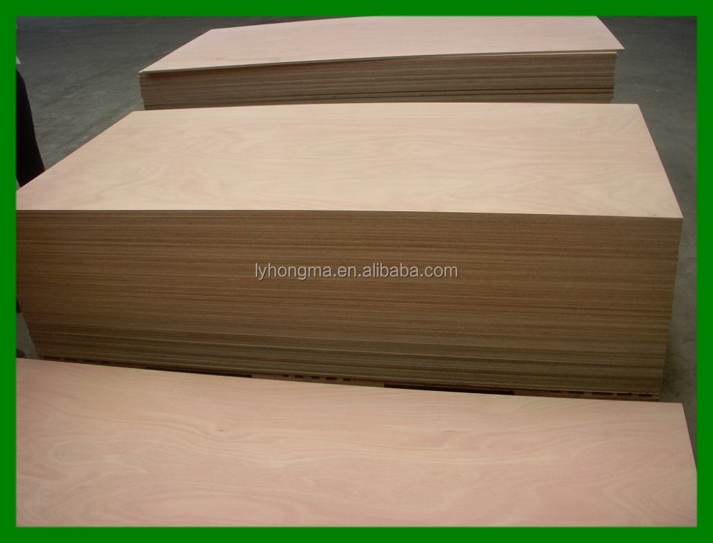 4'X8' poplar core commercial plywood sheet from Linyi factory directly
