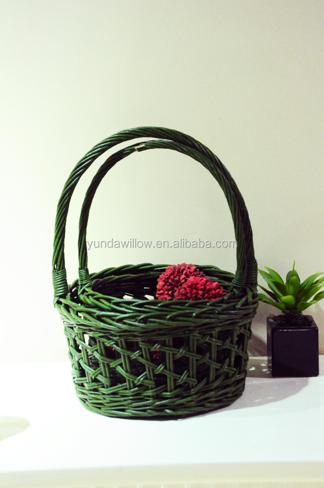 wicker fruit holder with handle
