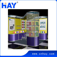 Custom trade show exhibition booth with modern design