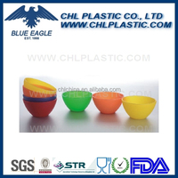 Customized logo printing promotional round plastic bowl with lid