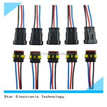 Hot Sale auto car electrical male female Tyco Amp automotive 3 pin connector with wires